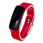 Fashion Sports Bracelet Rubber Band LED Waterproof Wrist Watch - Red