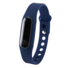 Waterproof Silicone Wristband LED Digital Watch - Dark Blue (1 x 1130)