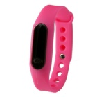 Waterproof Silicone Wristband LED Digital Watch - Dark Pink (1 x 1130)