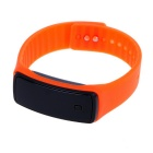 Unisex Fashion Sports Rubber Band LED Digital Wrist Watch - Orange