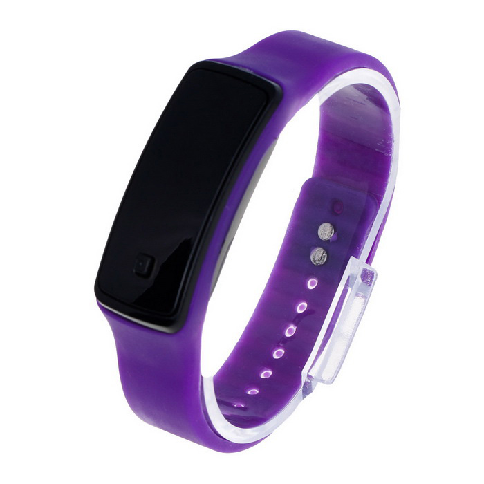 Unisex Fashion Sports Rubber Band LED Digital Wrist Watch - PurpleLED Watches<br>Form ColorPurpleQuantity1 DX.PCM.Model.AttributeModel.UnitShade Of ColorPurpleCasing MaterialPlasticWristband MaterialRubberSuitable forAdultsGenderUnisexStyleWrist WatchTypeSports watchesDisplayDigitalBacklightRedMovementDigitalDisplay Format12 hour formatWater ResistantFor daily wear. Suitable for everyday use. Wearable while water is being splashed but not under any pressure.Wristband Length22.5 DX.PCM.Model.AttributeModel.UnitDial Diameter2 DX.PCM.Model.AttributeModel.UnitDial Thickness1.2 DX.PCM.Model.AttributeModel.UnitBand Width1.2 DX.PCM.Model.AttributeModel.UnitBattery1 x AG13 (included)Packing List1 x Watch<br>