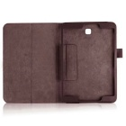 "Lychee Pattern Protective PU Case for Samsung Tab S2 9.7"" T810 - Brown"