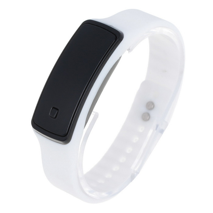Unisex Fashion Sports LED Digital Wrist Watch - White (1*AG13)LED Watches<br>Form ColorWhiteQuantity1 DX.PCM.Model.AttributeModel.UnitShade Of ColorWhiteCasing MaterialPlasticWristband MaterialRubberSuitable forAdultsGenderUnisexStyleWrist WatchTypeSports watchesDisplayDigitalBacklightRedMovementDigitalDisplay Format12 hour formatWater ResistantFor daily wear. Suitable for everyday use. Wearable while water is being splashed but not under any pressure.Wristband Length22.5 DX.PCM.Model.AttributeModel.UnitDial Diameter2 DX.PCM.Model.AttributeModel.UnitDial Thickness1.2 DX.PCM.Model.AttributeModel.UnitBand Width1.2 DX.PCM.Model.AttributeModel.UnitBattery1 x AG13 (included)Packing List1 x Watch<br>