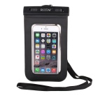 RUITAI Universal Protective Waterproof Case Pouch w/ Strap for IPHONE 6+ More - Transparent + Black