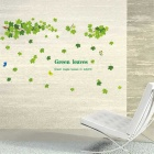 Green Maple Leaves Populaire Bricolage Vert Maple Leaf PVC Wall Sticker