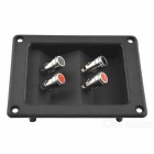 CARKING Speaker Box 4-Binding Post Terminal Connector - Black + Silver