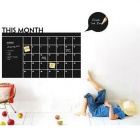 Large Size This Month Blackboard Waterproof Wall Stickers Decors - Black
