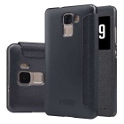NILLKIN Flip Open PU Leather + PC Case for Huawei Honor 7 - Black