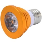E27 3W dimmable RGB LED bulbo com controle remoto (ac 85 ~ 265V)