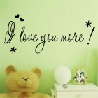 """I Love You More"" PVC Home Decoration Wall Decal Sticker - Black"