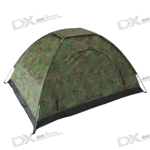 LEOU Two-Man Camouflage Camping Tent