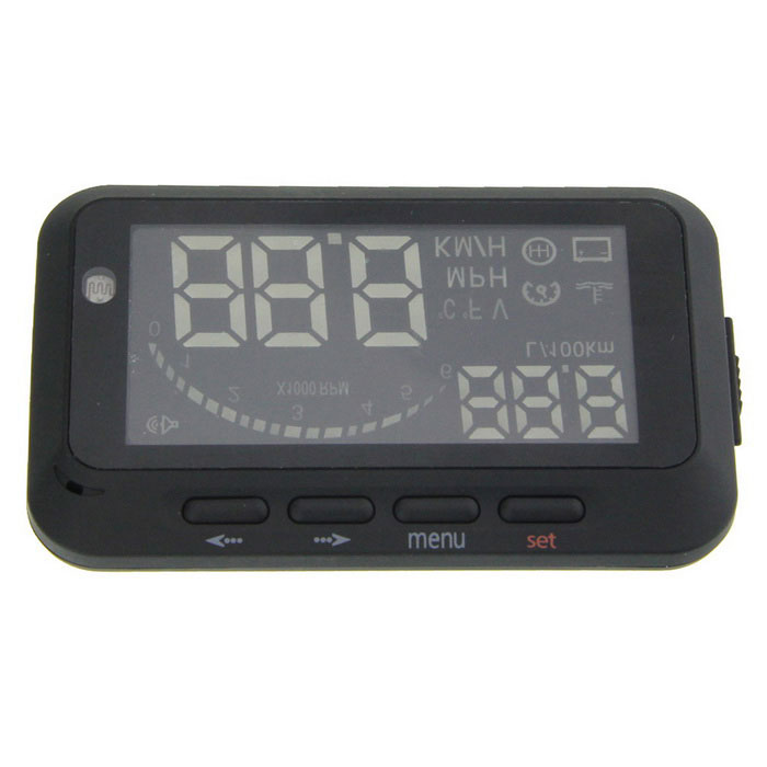 "3.5"" Screen Car Head UP Display w/ Bluetooth + OBDII Interface - Black"