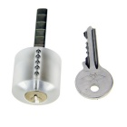 ABS + Stainless Steel Transparent Practice Lock w/ Key