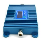 LCD Display 2G GSM Mobile Phone Signal Booster w/ Yagi Antenna - Blue