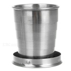 Portable Stainless Steel Folding Cup Bottle w/ Keyring - Silver (75ml)
