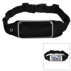 Mini Smile Outdoor Sports Adjustable Nylon Waist Band for IPHONE 6 - Black