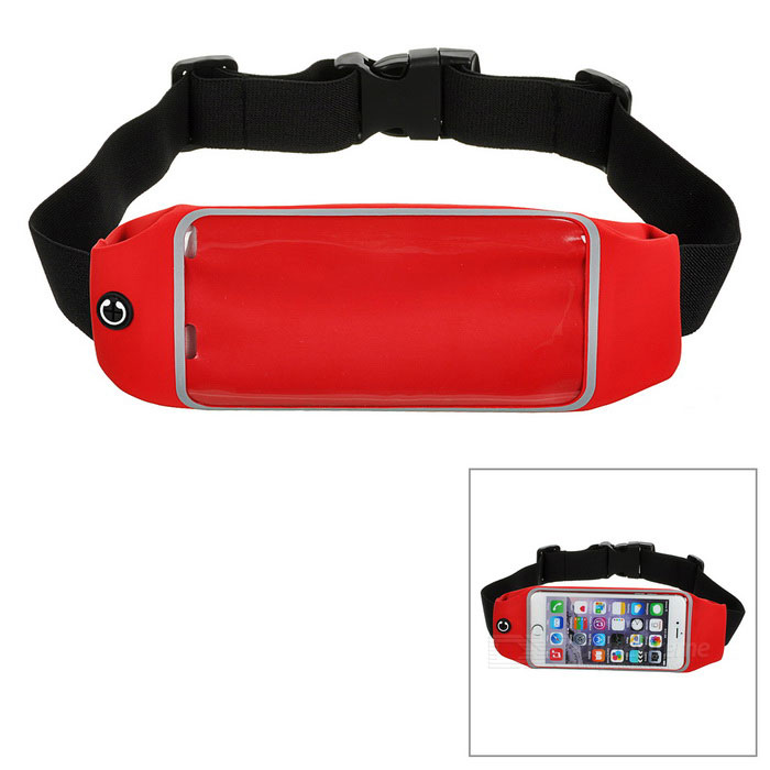 Outdoor Sports Adjustable Nylon Waist Band for IPHONE 6 / 6S PLUS -Red