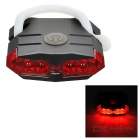 Leadbike Waterproof USB Powered 4-Mode 4-LED Red Light Bike Tail Light - Black