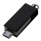 OTG Micro USB / USB Flash Drives for Phone / Computer - Black (16GB)