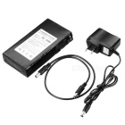 DC 12980 9800mAh Explosion-proof Rechargeable Li-ion battery w/ Switch - Black