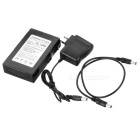 DC 12680 6800mAh Explosion-proof Rechargeable Li-ion battery w/ Switch - Black