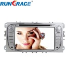 "Rungrace 7"" 2-Din Car DVD Player w/ BT, GPS, RDS, ISDB-T, CAN BUS for Ford Focus - Silvery Grey"