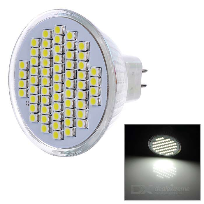 MR16 3W LED Cup Bulb Cold White Light 180lm 60-SMD 3528 (DC 12V)
