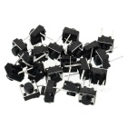 6 x 6 x 5mm 2Pin Micro Tact Key Switches - Black (20 PCS)