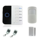 iOS Android Apps Wireless Wi-Fi GSM Alarm System Set - White + Black