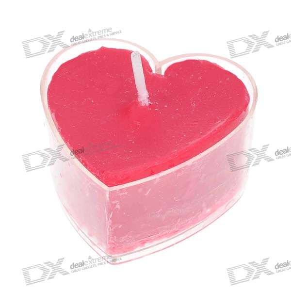 Rose-Scented Heart Shaped Candles - Red (4-Pack)