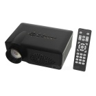 FB3700 Portable Mini HD LED Projector w/ AV / VGA / SD / HDMI - Black