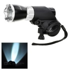 SOLDIER Handlebar Mounted White 3-Mode LED Bike Light - Back + Silver