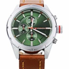 CURREN8154Men'sPULeatherBandQuartzAnalogWristwatch-оранжевый+серебро(1x626)