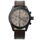 CURREN 8154 Men's PU Band Quartz Analog Watch - Brown + Black (1*626)