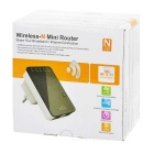 wall-plug wireless-n reititin langaton toistin w / WPS - musta (UK pistoke)