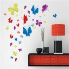 Cartoon Butterfly Wall Decal PVC Wall Sticker - Blue + Yellow + Multi-Colored