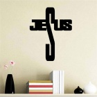 Creative Jesus Cross Pattern Wall Decals PVC Wall Sticker - Black