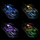 Professional USB 2.0 Powered Wired LED Gaming Mouse - Black