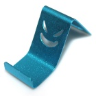Aluminum Alloy Mobile Phone Holder for IPHONE 6 + More - Silver + Blue