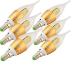 YouOKLight E14 3W LED Candle Bulb Cool White Light 6500K 16-SMD (6PCS)