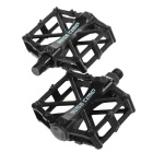 Basecamp Slip-resistant Ultra-light MTB Cycling Bike Bicycle Aluminum Alloy Pedals - Black (2 PCS)