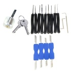 Practice Lock + 9-Piece Lock Picks + Z & L Shaped Quick-Picking Tool + Comb Style Lock Picks Set