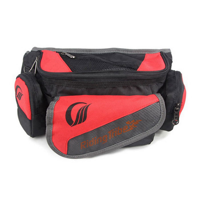 RidingTribe Motorcycle Sports Large Capacity Waist Bag - Red + Black