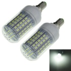 Highlight E14 1600lm 9W LED Corn Bulb Bluish White 96-SMD (2PCS)