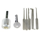 Transparent Praxis Sperre + Einzel-Haken Dietriche Tools Set w / 1 Key