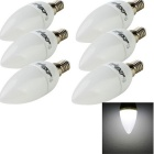 YouOKLight E14 3W 8-SMD 2835 6500K 300lm LED Cool White Light Bulb Kerzenlampe (AC 220 V / 6 PCS)
