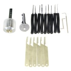 transparante praktijk lock + lock picks + picking tools set