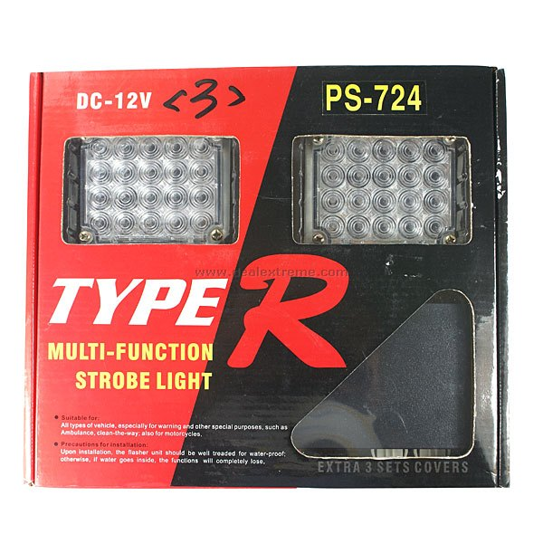 Type-R Blue and Red Warning Strobe Light for All Vehicles (40-LED) сумка all out 908767 barnsley blue dream check