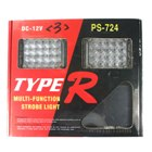 Type-R 2 * 20-LED Blue and Red Warning Strobe Light for All Vehicles