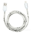 D8 MFI Certified USB Apple 8pin Lightning Data Sync / Charging Cable - Black + White (1m)